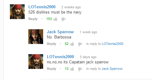 So i was browsing the Pirates of the Caribbean theme song on youtube and...