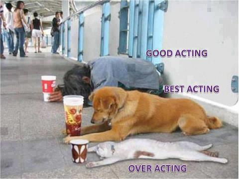 There are three types of acting