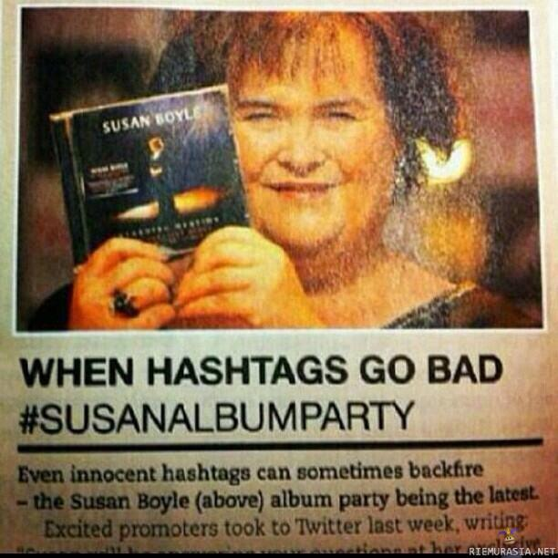 When hashtags go bad