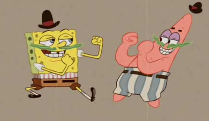 Overly manly Spongebob and Patrick