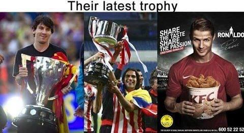 I think I want Ronaldo's trophey the most
