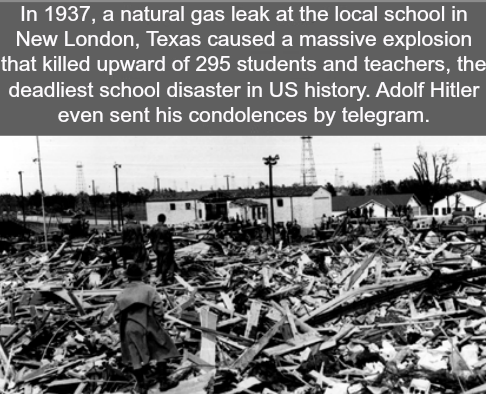 Natural gas leak