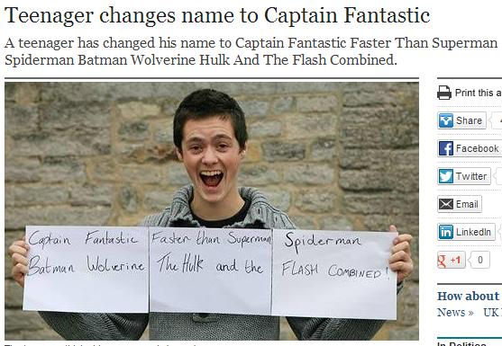 Captain Fantastic Faster Than Superman Spiderman Batman Wolverine ...