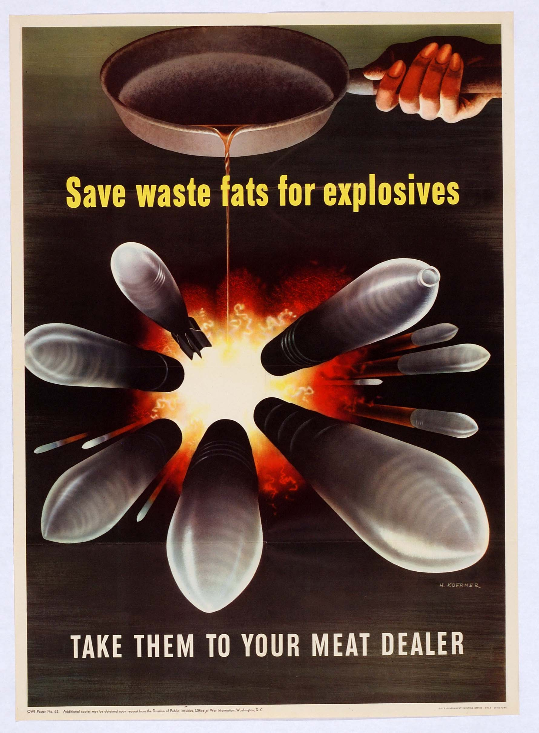 Original WW2 Poster....BACON :D