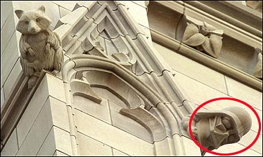 darth vader is a gargoyle at the washington national cathedral