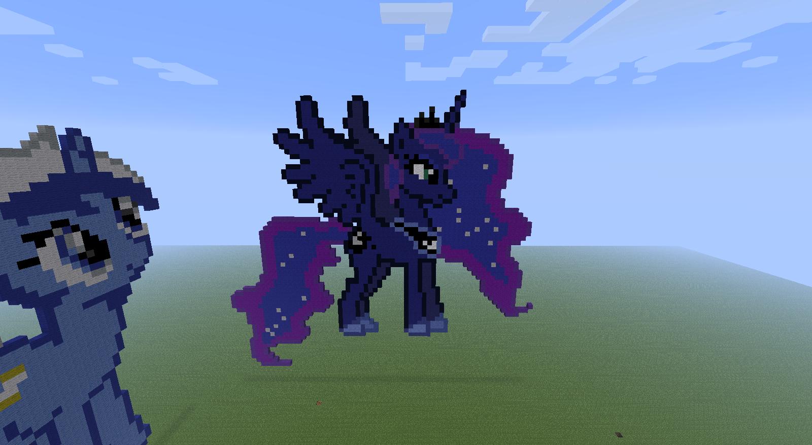 Awesome Luna Minecraft Pixel Art!