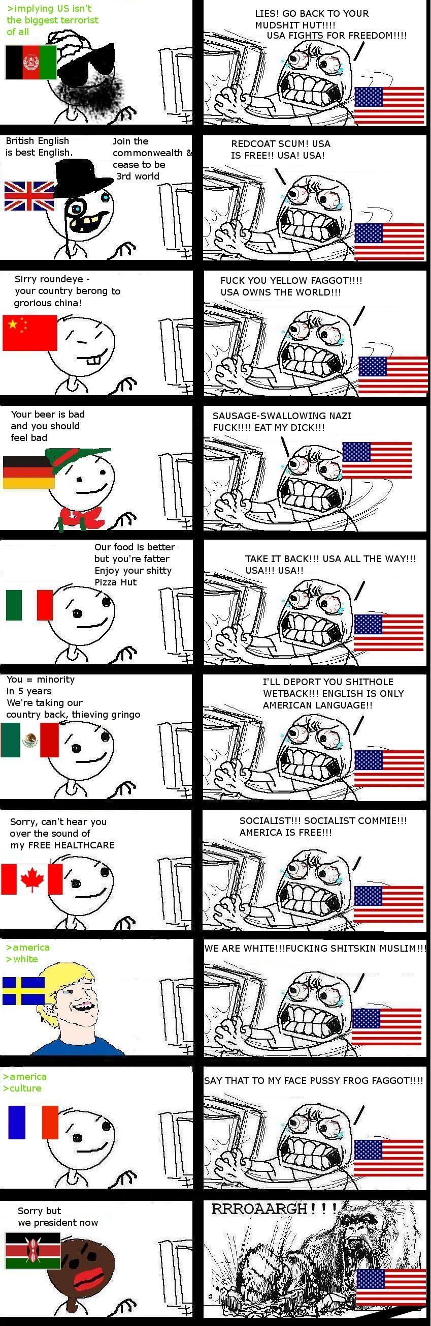 International 'murica rage