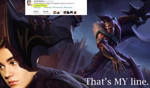 Never steal Draven's line. Or kill...
