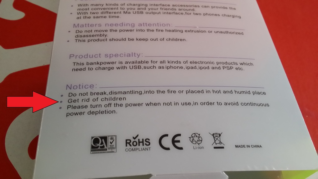I Bought A Power Bank Some Demanding Instructions On The Box