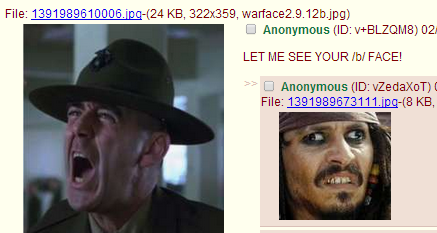 LET ME SEE YOUR /b/ FACE