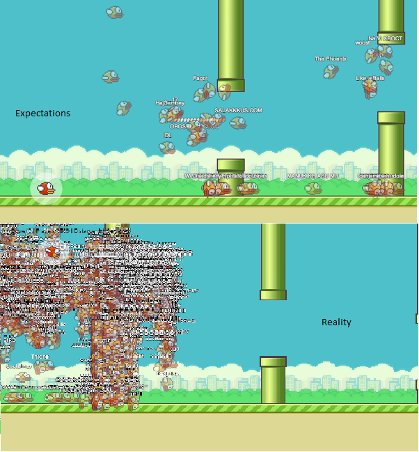 Playing FlappyBird MMO