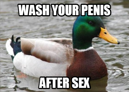 Especially after anal; even if you wore a condom.