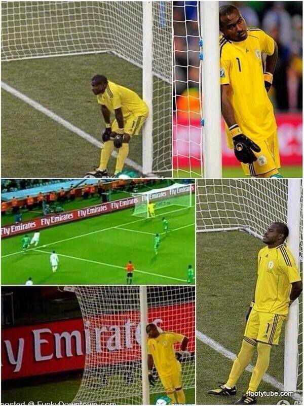 Probably the most chillax goalkeeper at World Cup. 0 fuks were given.