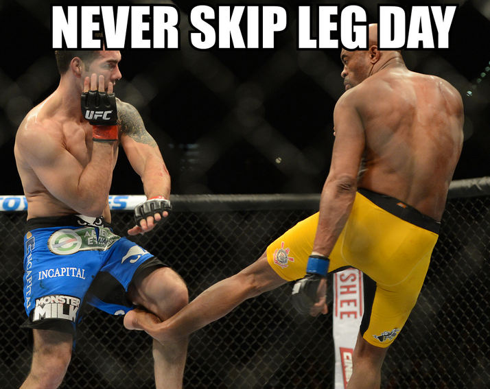 His leg is like a banana.