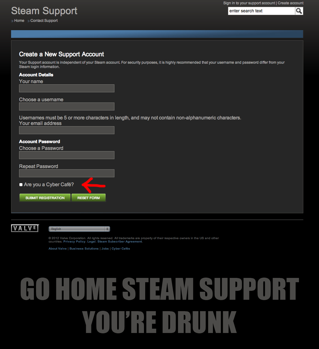 how to ask steam support a question