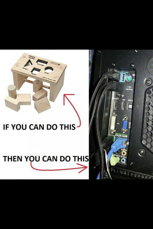 When my parents ask me to connect the computer