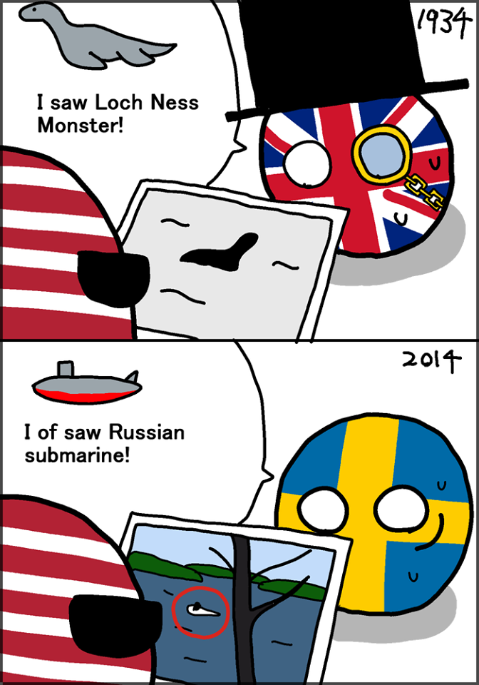 Sea monster, submarine, is the same thing.