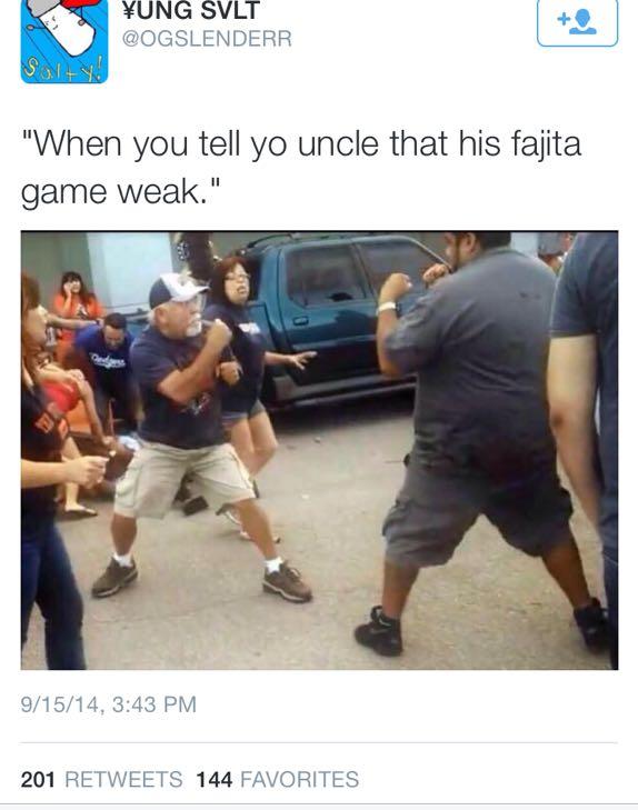 Fajitas game too weak.