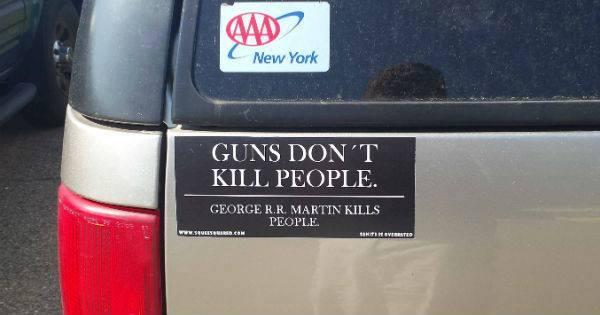 And we pay him to do it. We pay him to kill the people we love.