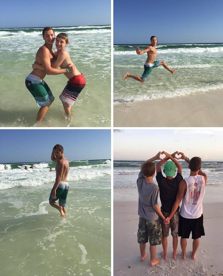 How girls take pictures at the beach...