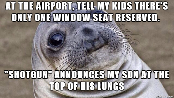 Everyone in the security line looked up...