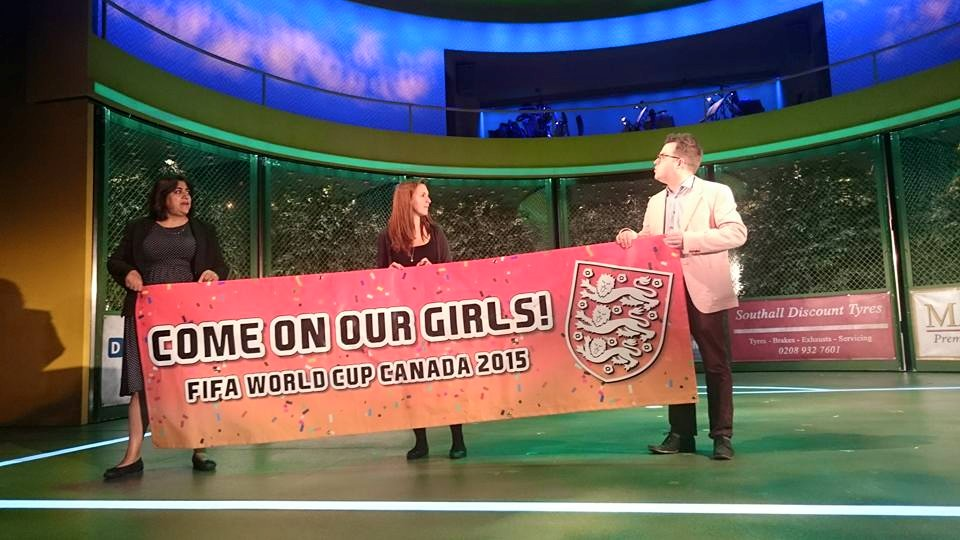 England's slogan for their women's World Cup team