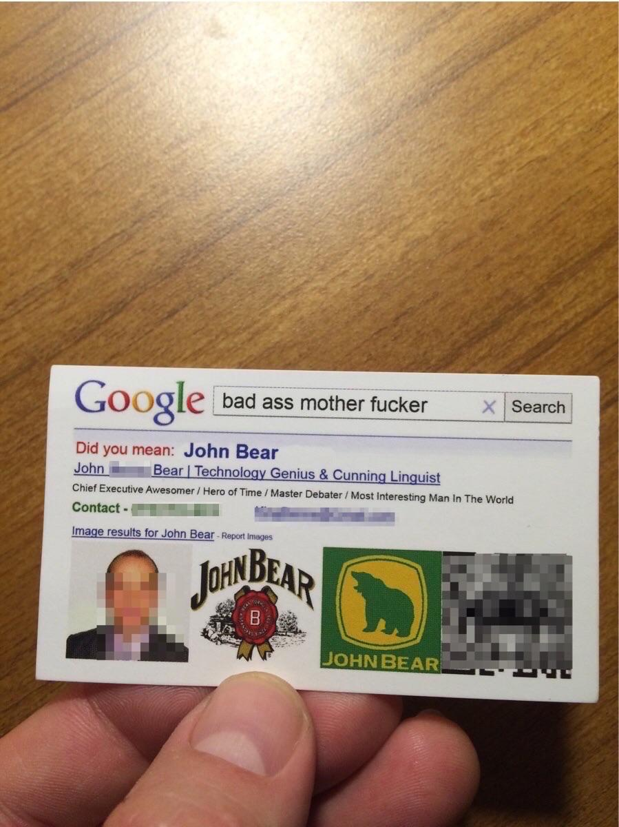 This guy's business card is better than yours.