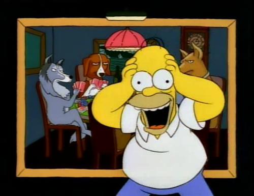 Homer dogs playing poker casino balmain