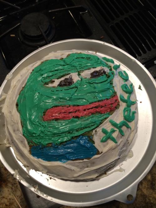 Pepe Make A Birhtday Cake S