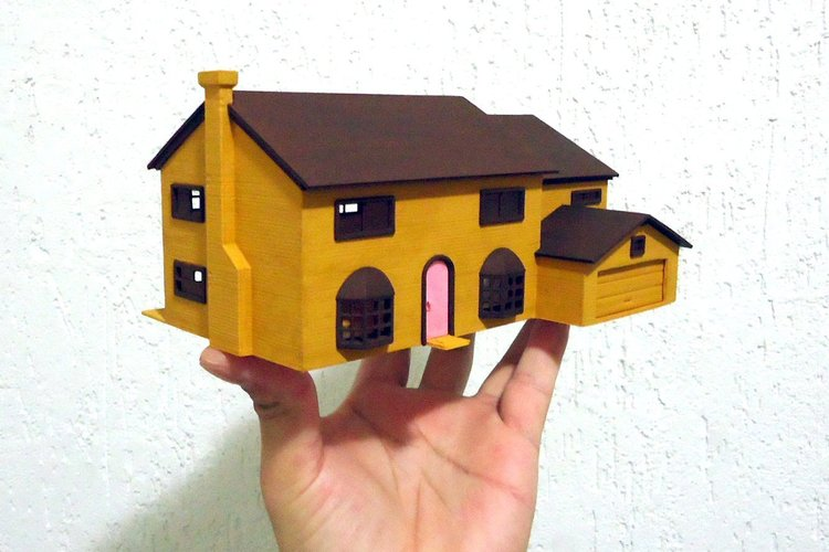 3d printed 742 evergreen terrace springfield for 742 evergreen terrace springfield