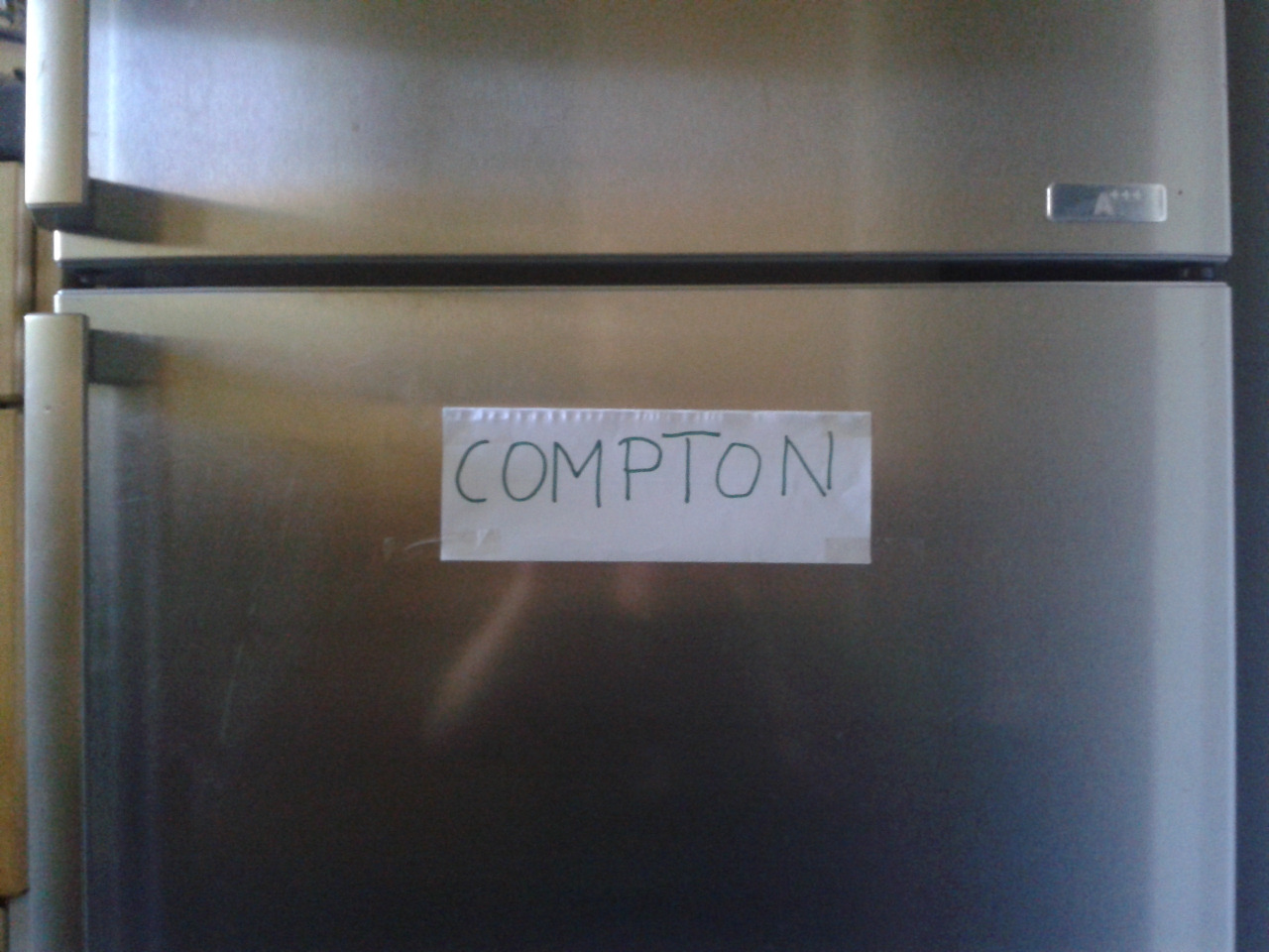 Put this on my freezer to make sure all my ice cubes are comming straight outta compton