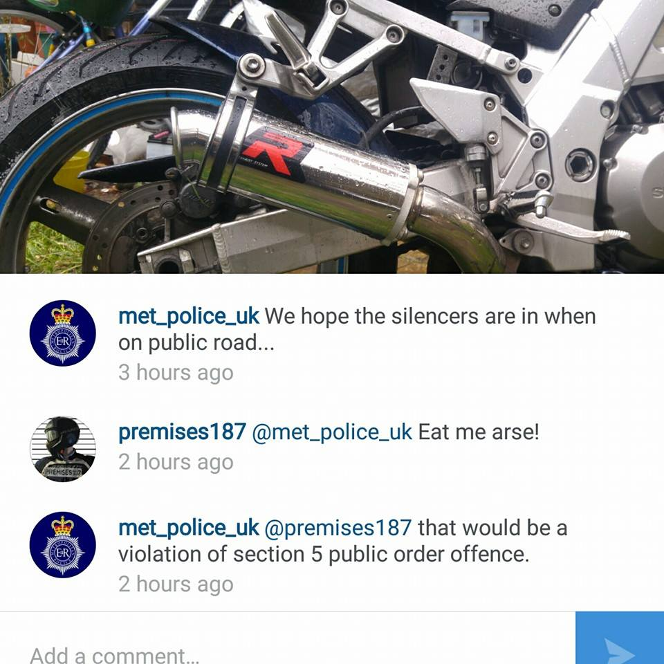 but rules are made to be broken right met_police_uk? and you would love that don't try to hide it