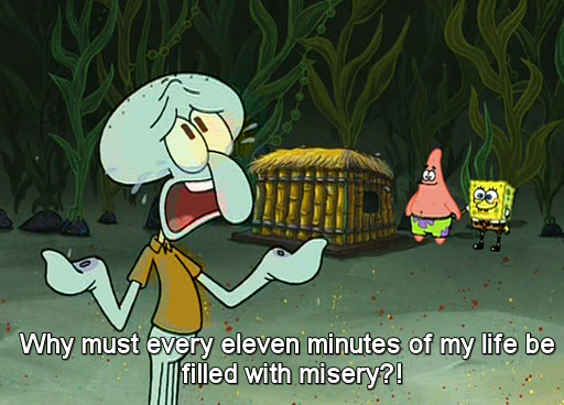 Squidward Breaks the Fourth Wall
