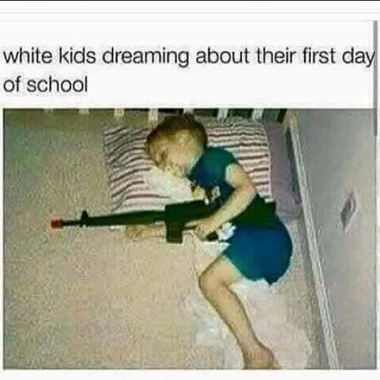 White kids' dreams