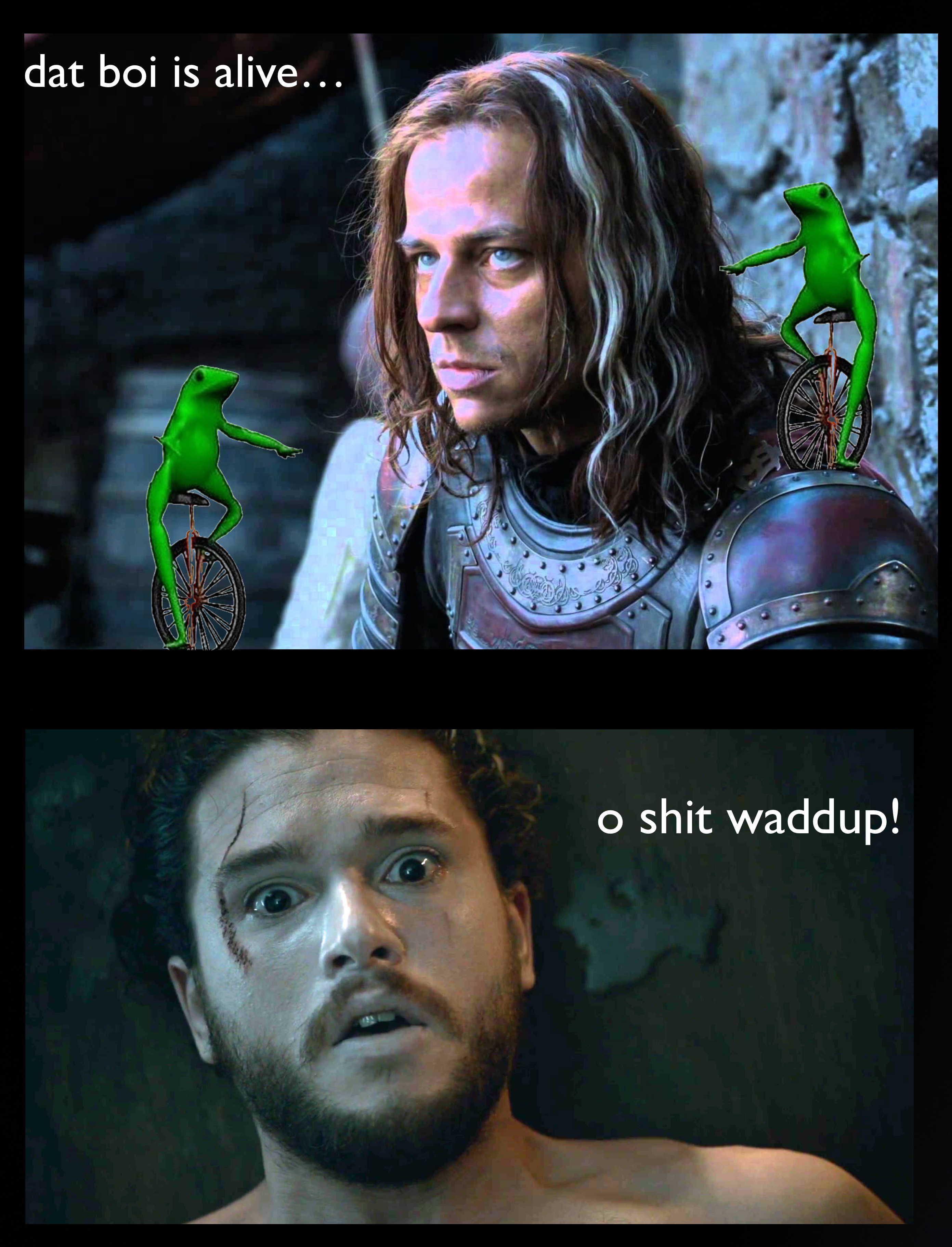 A frog has no name