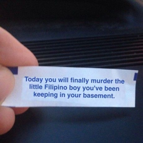 Fortune cookies these days are getting way too accurate for my liking.