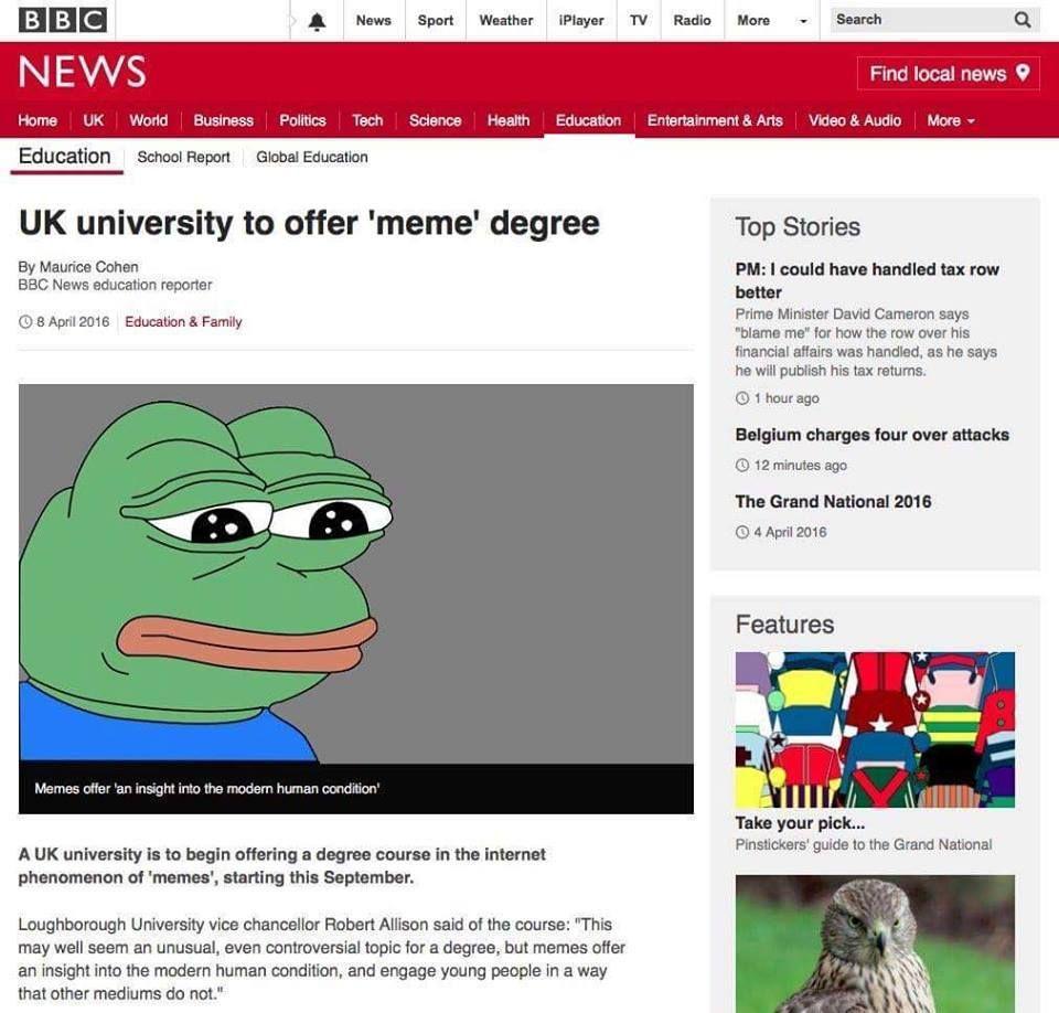 Memology degree, here I come