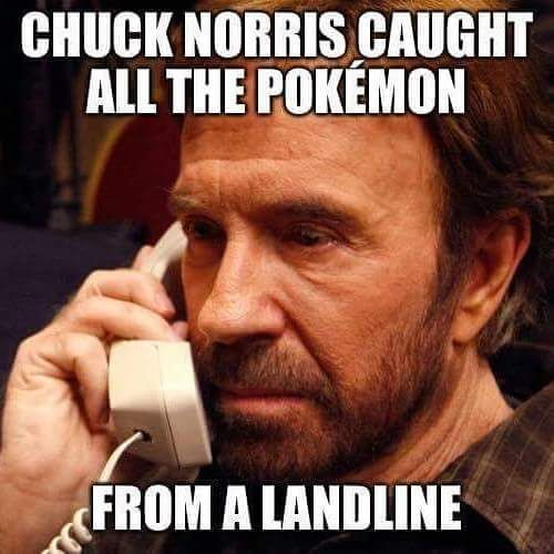 Chuck Norris is Pokemon king