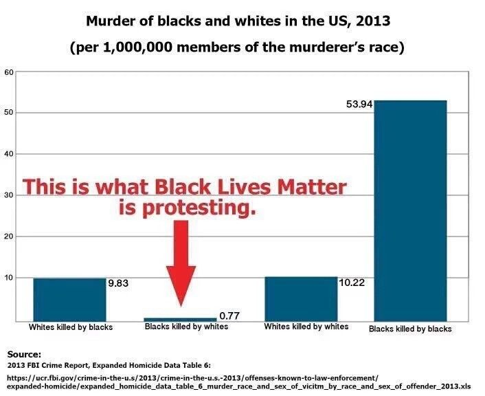 """The is what """"black lives matter"""" is protesting."""