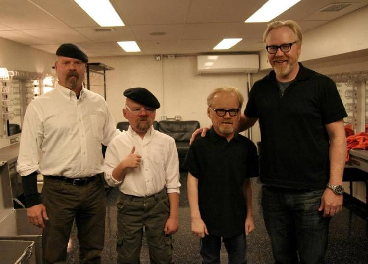 The Mythbusters guys posing with some fans
