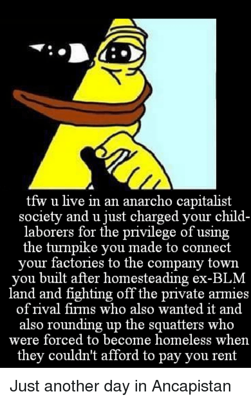 There seems to be a lack of anarcho-capitalist memes
