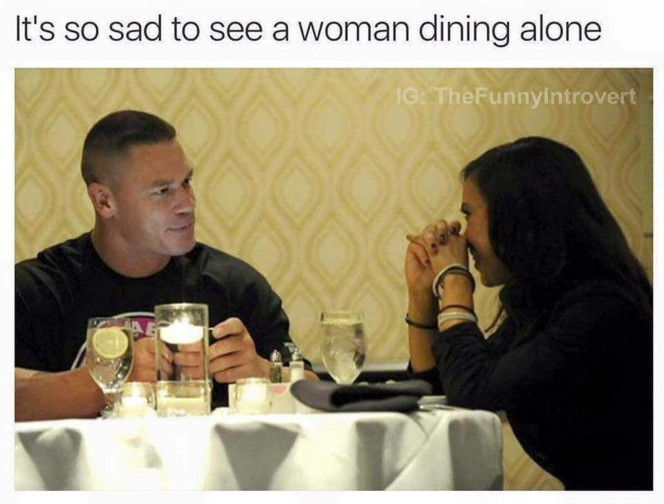 She must've been stood up