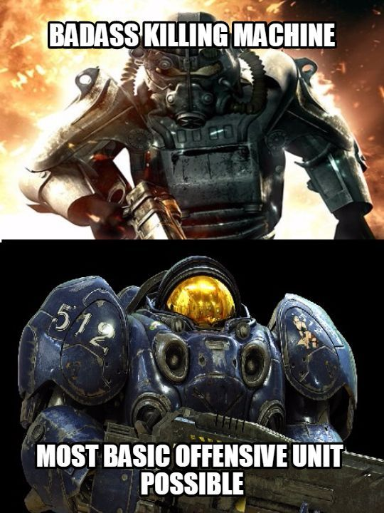 Fallout Vs Starcraft On Power Armor