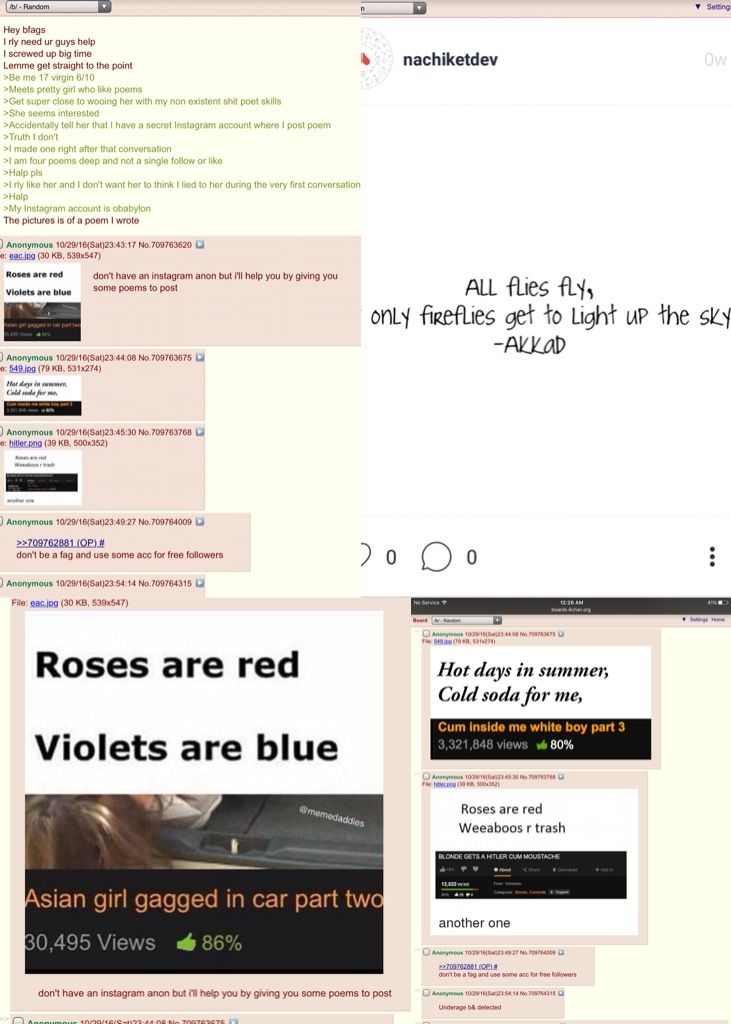 Anon tries to be a poet