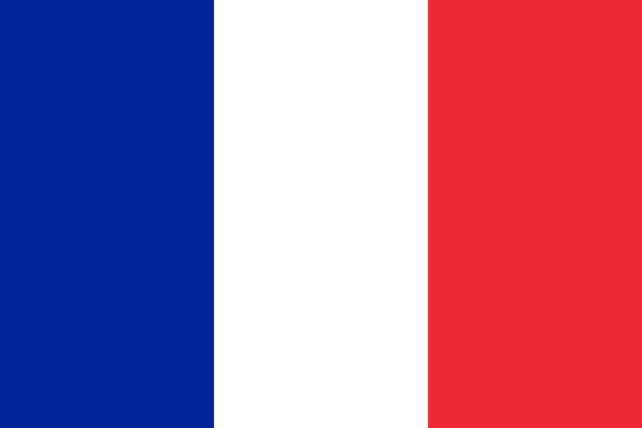 French Flag Colorized Circa 1939