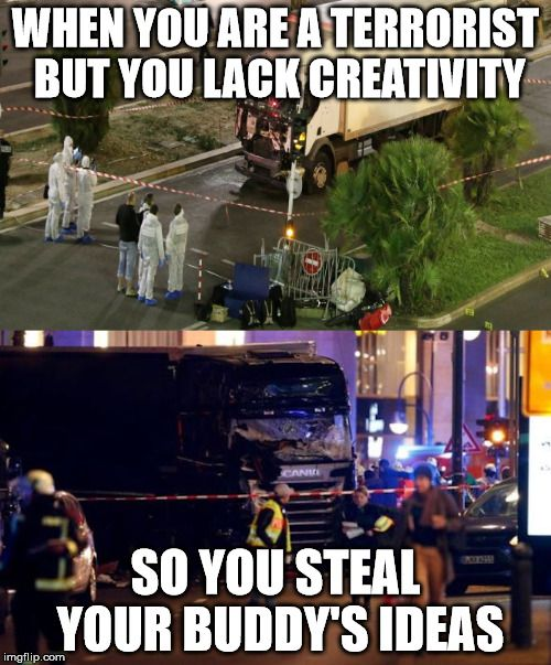 Creating OC in terrorism is just as important guys, don't steal memes