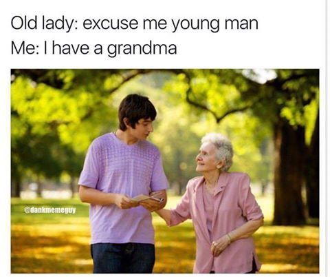 check ur granny privilege , person