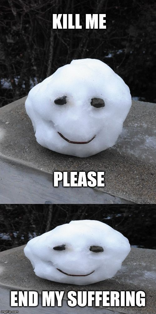 When you put too much of your soul in the snowman