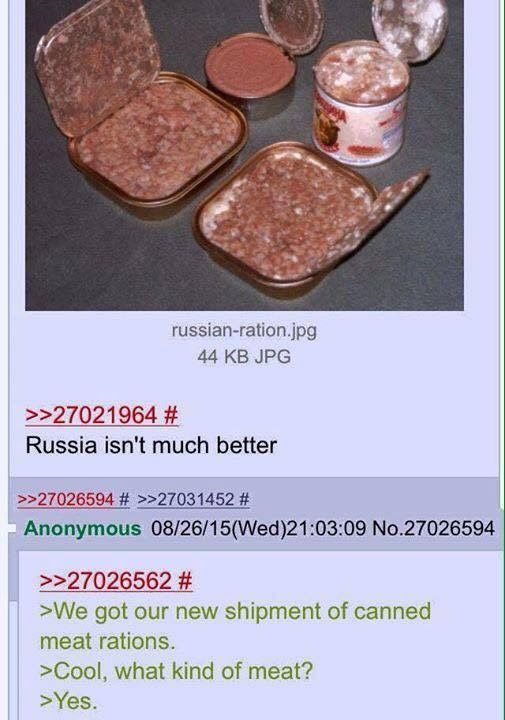 Anon talks about Russia's high quality meat