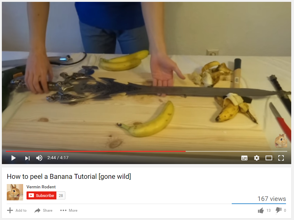 How to peel a Banana the epic way